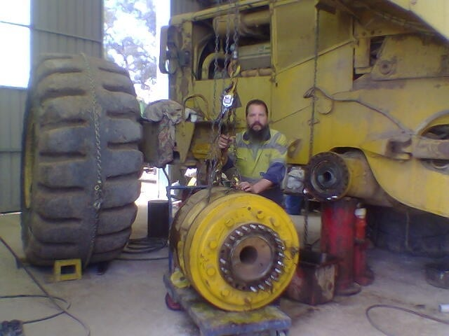 Bill Working on a CAT 992